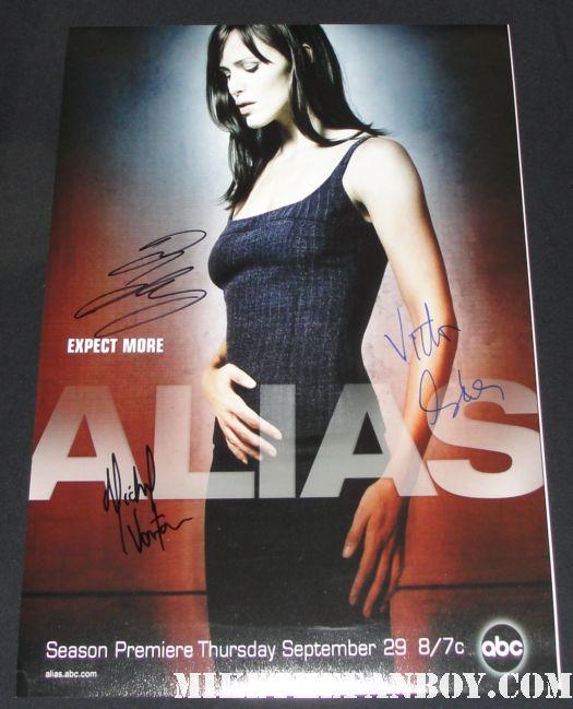 alias cast signed promo poster jennifer garner victor garber greg grunberg promo poster rare
