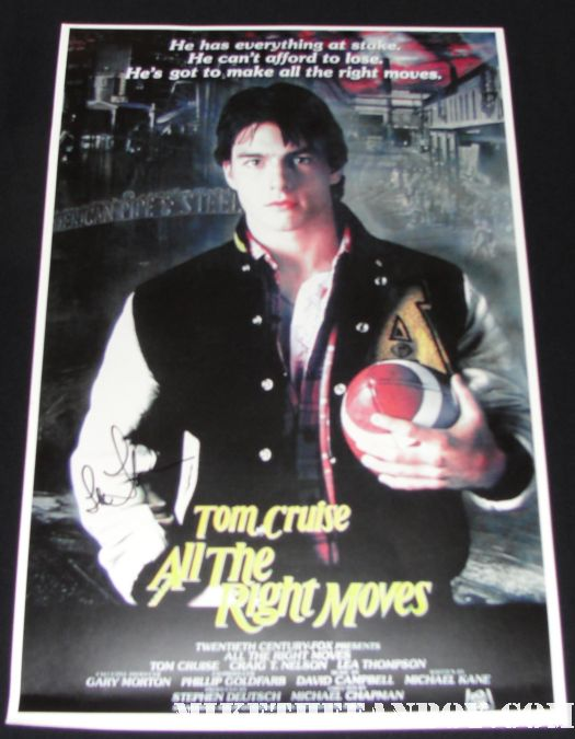 tom cruise naked penis all the right moves lea thompson hand signed mini promo poster