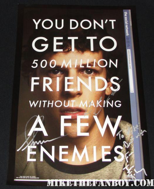 Social Network justin timberlake promo poster rare shirtless jesse eisenberg sexy