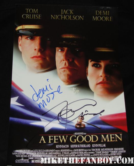 a few good men hand signed promo mini poster rare autograph