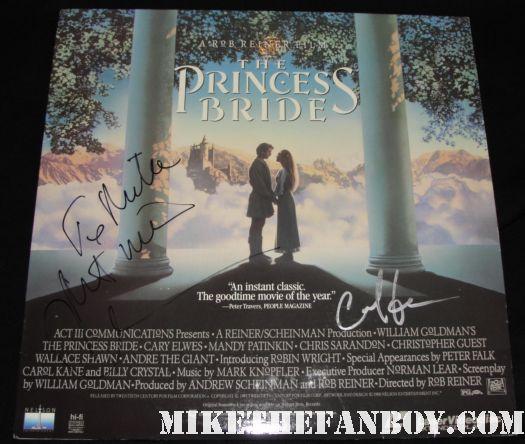 carey elwes hand signed rare pricess bride dvd poster rare promo autograph