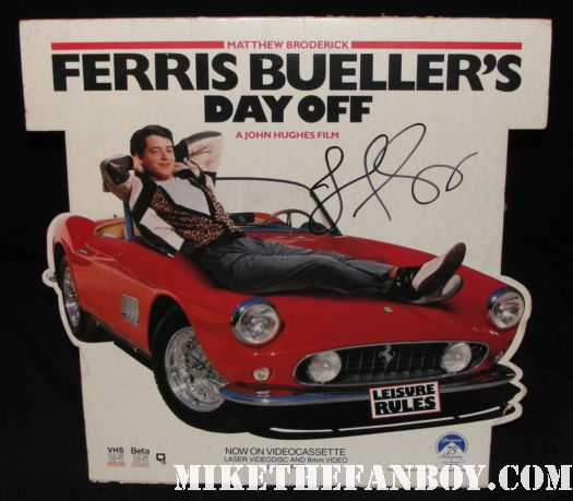 jennifer grey ferris bueller's day off hand signed counter standee promo rare