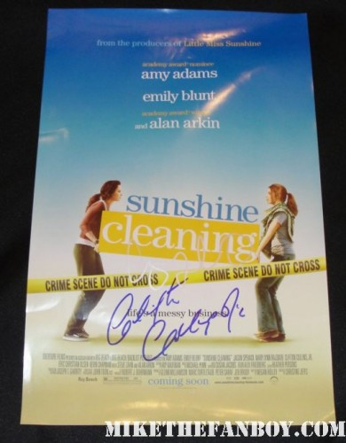 sunshine cleaning amy adams cast signed mini poster movie promo rare