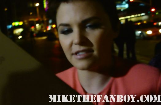 Ginnifer Goodwin autograph signing season 5 big love rare party he's not that into you