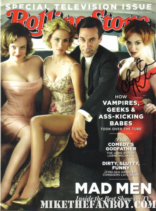 Christina Hendricks Signed Mad Men Rolling Stone magazine cover autograph rare