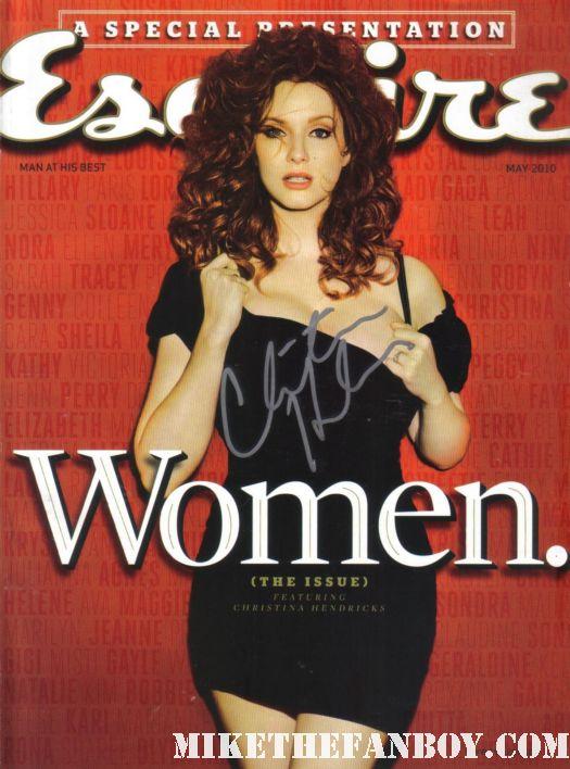 Christina Hendricks Signed Esquire magazine cover autograph rare sexy