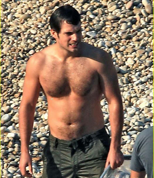 Henry Cavill shirtless wet hot sexy superman reboot tudors christopher nolan superman reboot 2011