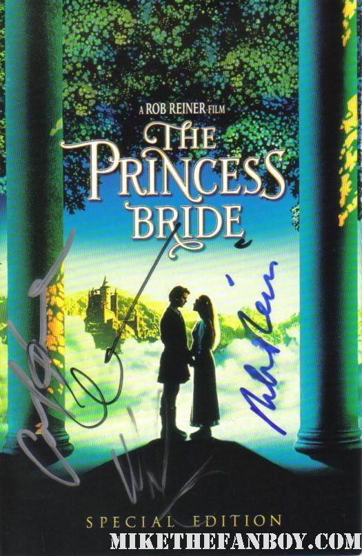princess bide carey elwes carol kane rob reiner dvd autograph signed