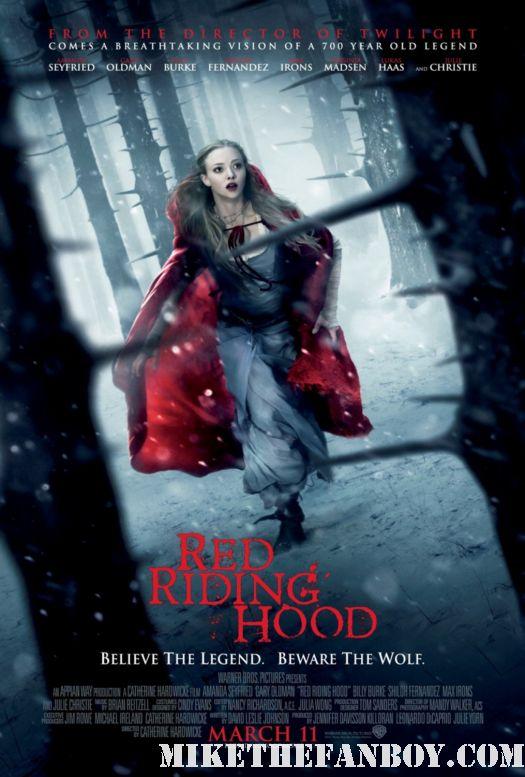 red riding hood movie poster rare promo sexy amanda seyfried gary oldman stunning