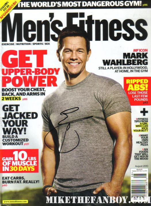 mark wahlberg hand signed promo magazine the fighter mens fitness marky mark sexy