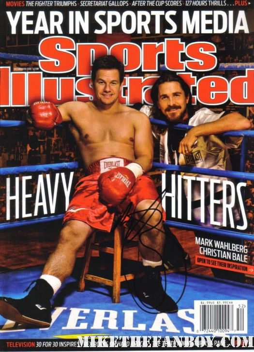 mark wahlberg shirtless sexy sport illustrated hand signed promo magazine