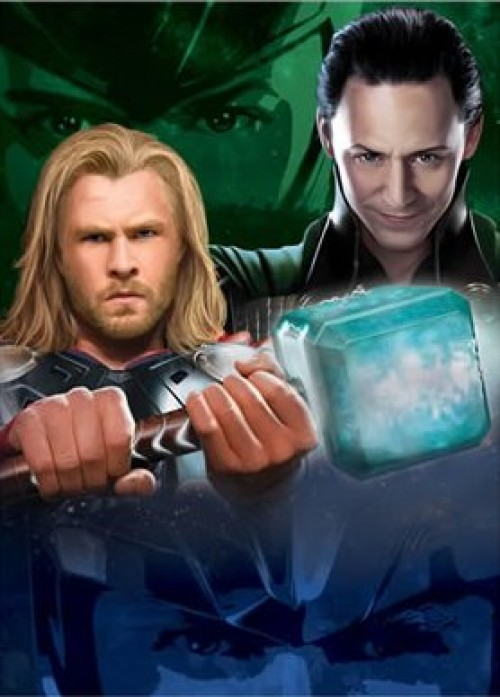 chris hemsworth sexy hot shirtless rare tom hiddleston thor loki promo poster marvel rare mini one sheet poster