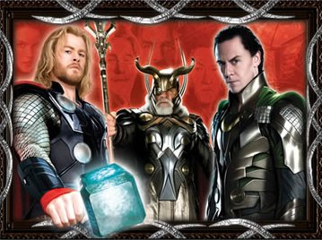 chris hemsworth loki thor tom hiddlestone rare promo mini poster sexy muscle abs hammer promo rare hot sexy evil fire