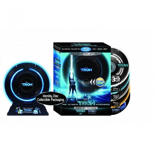 tron legacy 5 disc blu ray identiy disc glow jeff bridges garrett hedlund dvd limited edition rare