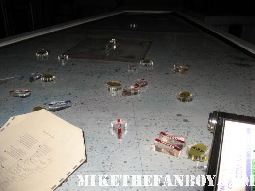 battlestar galactica CIC miniships prop promo signed autographs mary mcdonnell rare edward james olmos