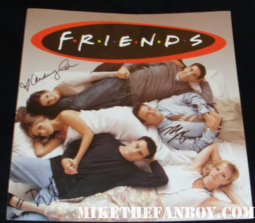 friends cast signed promo poster courtney cox mathew perry matt leblanc soundtrack promo hot sexy