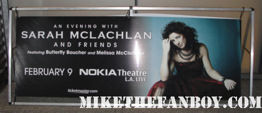 Sarah Mclachlan and friends live in concert 2011 nokia theatre los angeles Feb laws of illusion rare promo sign banner hot large