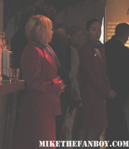 chris hemsworth pier 59 art opening donna karen waitresses stewardesses sexy hot shirtless