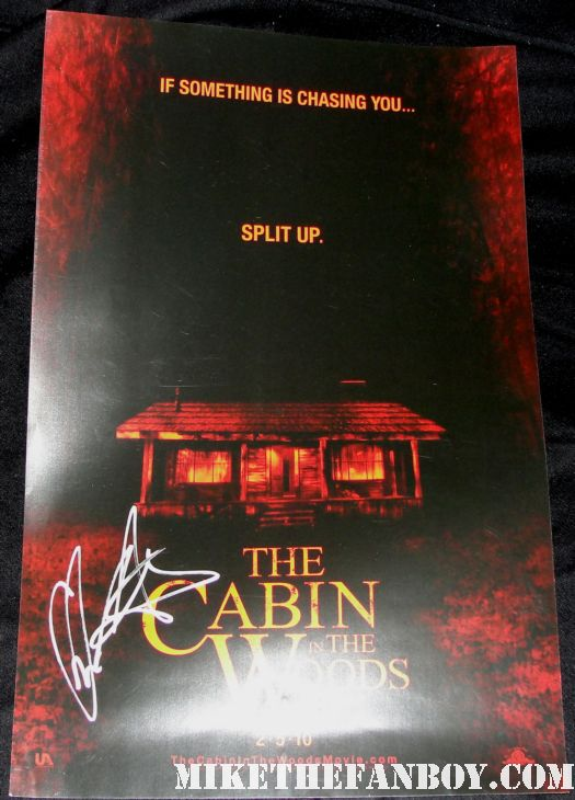 Chris Hemswoth cabin in the woods joss whedon signed promo mini poster rare hot thor