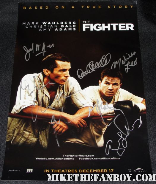 the fighter cast signed promo mini poster mark wahlberg christian bale melissa leo
