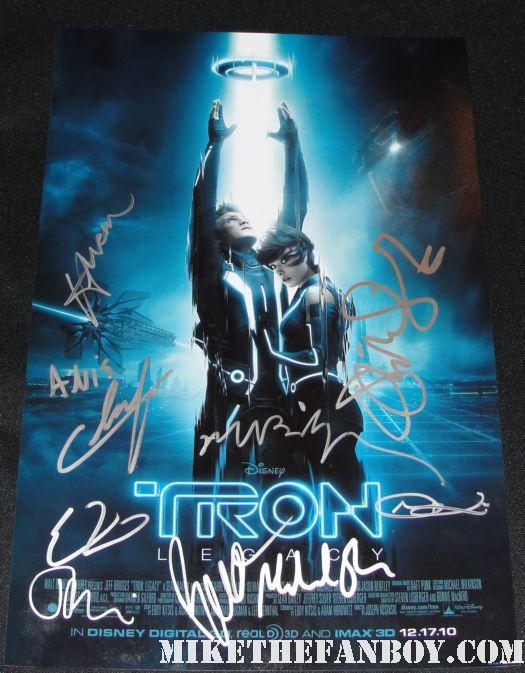 jeff bridges signed autograph promo poster mini rare tron legacy kevin flynn promo