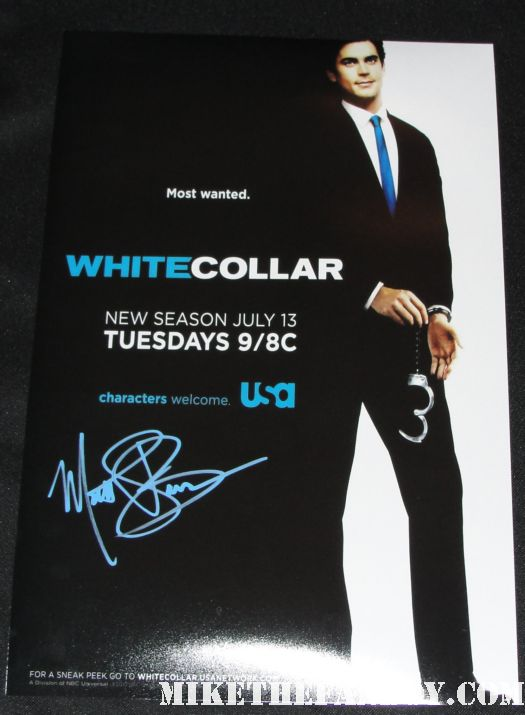 Matt Mathew bomer hand signed promo poster rare hand signed poster sexy hot