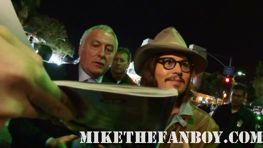 Johnny depp autograph signing rango sleepy hollow premiere sexy hot shirtless GQ Magazine Pirates of the Carribean