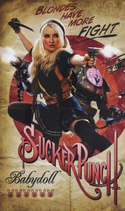 Emily Browning babydoll sucker punch rare retro style individual promo mini poster hot sexy zac snyder promo