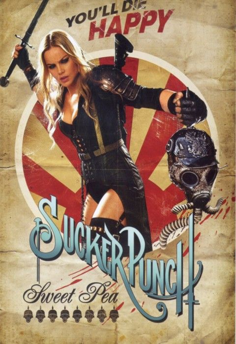 Abbie Cornish sucker punch rare individual one sheet retro style movie poster zac snyder rare sweet pea