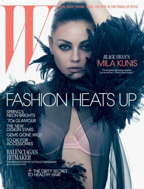 Mila Kunis W magazine March 2011 hot sexy photoshoot skin naked forgetting sarah marshall black swan