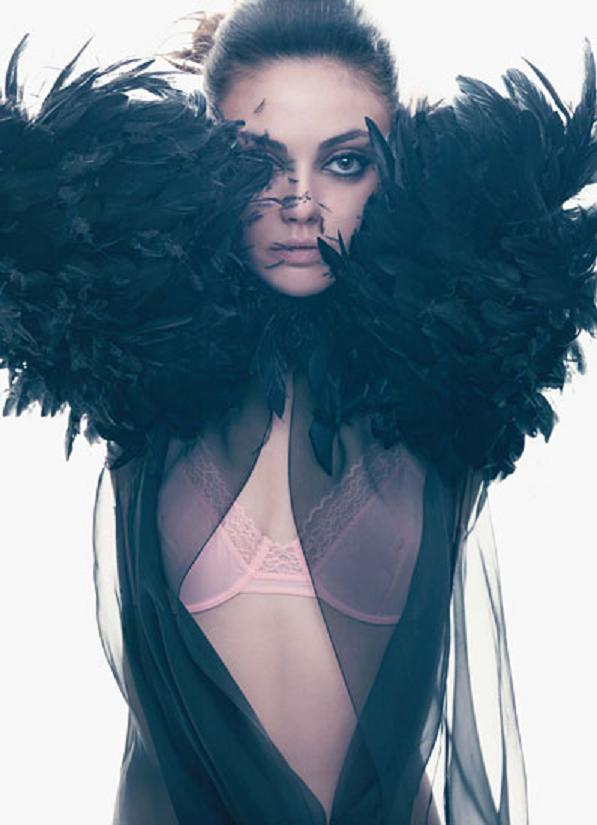 mila kunis w magazine march 2011 sexy hot skin photoshoot promo poster black swan that 70's show