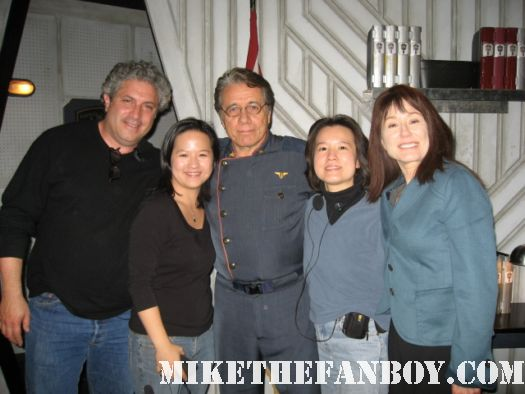 Battlestar Galactica edward james olmos Mary Mcdonnell scream 4 rare costume mike the fanboy set behind the scenes rare