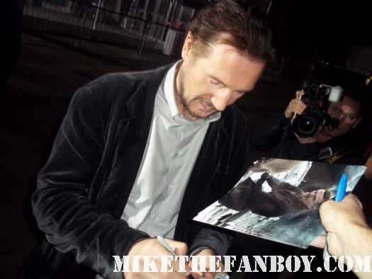 Liam Neeson signed autograph unknown premiere taken batman begins star wars episode 1 sexy hot rare