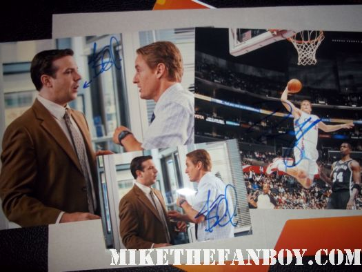Jason Sudeikis and Blake Griffin signed autograph photo poster hall pass Clippers Franchise player