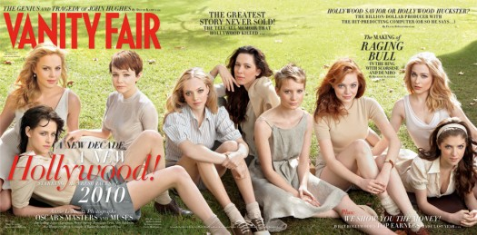 vanity fair 2010 issue hollywood magazine cover kristen stewart emma roberts katherine heigl