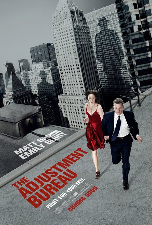 matt damon emily blunt adjustment bureau rare mini promo poster sexy hot naked rare red dress sunshine cleaning rare hot