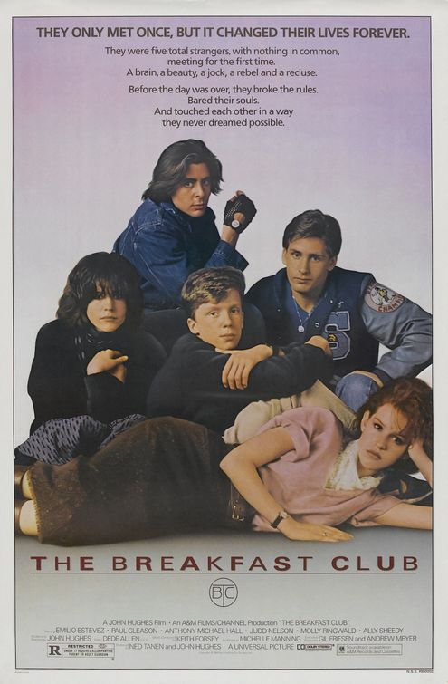 ally sheedy judd nelson brakfast club promo one sheet movie poster rare hot classic john hughes