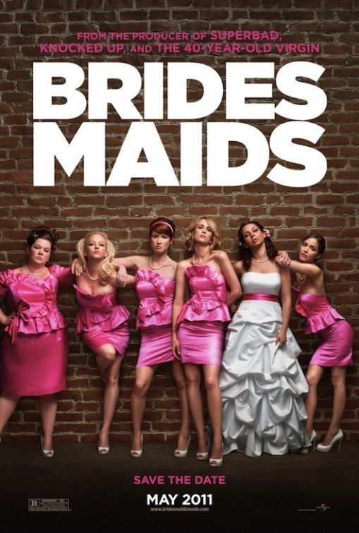 bridesmaids rare promo movie one sheet movie poster melissa mccarthy gilmore girls maya rudolph