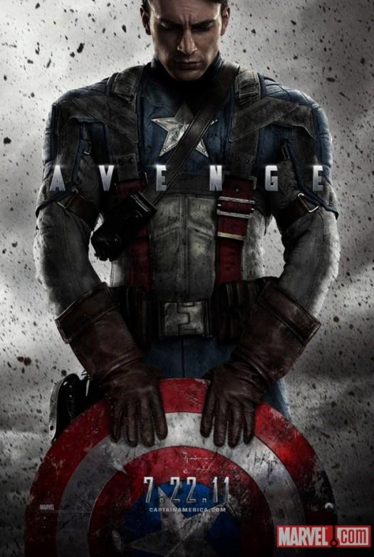captain america rare promo one sheet movie poster chris evans rare hot shirtless