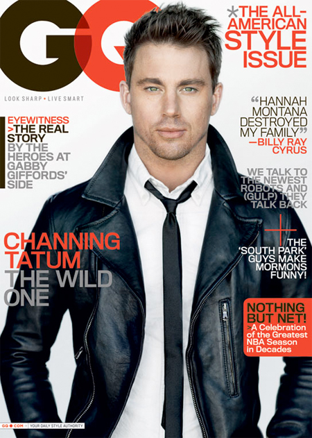Channing Tatum GQ magazine rare sexy hot shirtless rare cover March 2011 promo rare eagle step up GI Joe