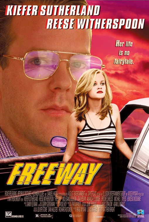 freeway reese witherspoon kiefer sutherland promo one sheet poster movie cult classic
