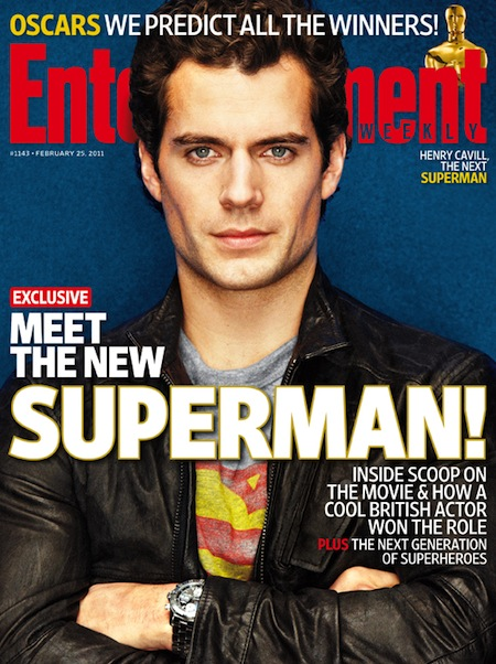Henry Cavill Christopher nolan superman 2011 entertainment Weekly Shirtless sexy hot rare promo scruff sweat