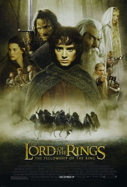 lord of the rings the fellowship of the rings promo one sheet mini poster liv tyler elijah wood sexy viggo mortensen