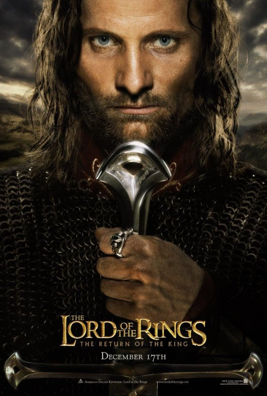 lord of the rings return of the king rare promo mini poster viggo mortensen rare shirtless sexy hot