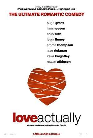 love actually valentine's day rare promo movie poster hugh grant walking dead romantic valentine's day