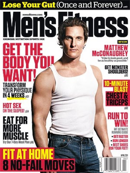 Matthew McConaughey men's Fitness muscle abs shirtless sexy hot sleeveless skin workout naked rare