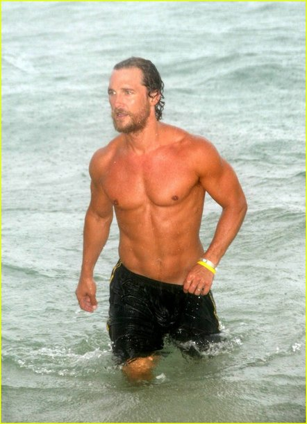 matthew mcconaughey shirtless beach abs muscle men's fitness rare ripped sexy hot naked wet rare fucking