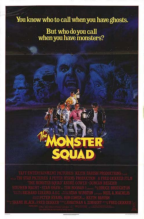 the monster squad rare promo mini movie one sheet movie psoter wolfman dracula fred dekkar