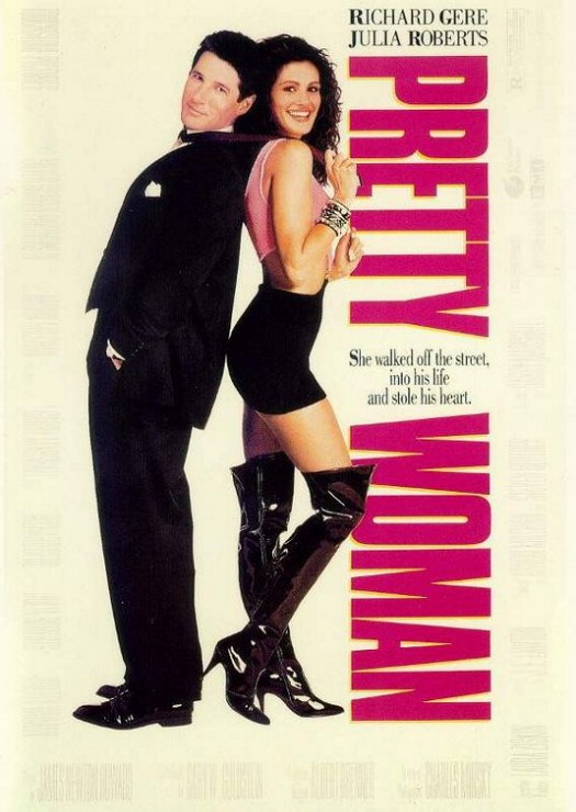 pretty woman rare one sheet movie poster richard gere julia roberts sexy hooker valentine's day
