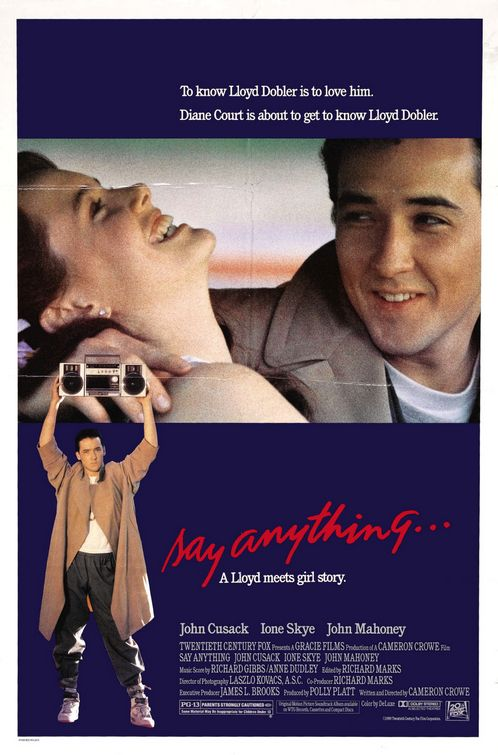 say anything john cusak cameron crowe one sheet movie poster promo frasier rare